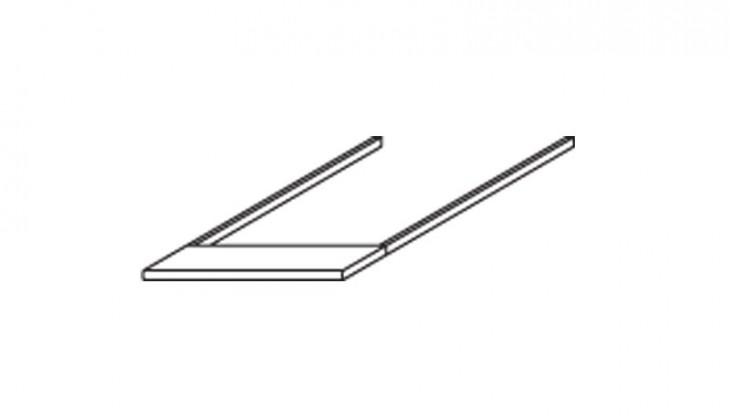 Doplnok Modena B - Římsa horní na skříň šířky 47 cm