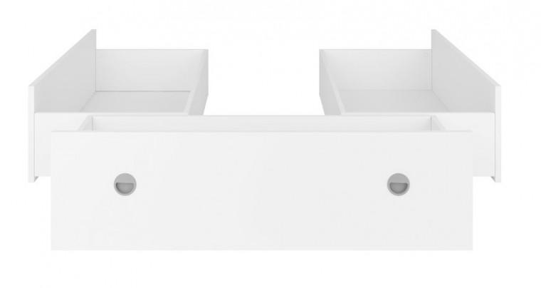 Doplnok Sada 3 šuplíkov k posteli Novara 140x200 (biela)