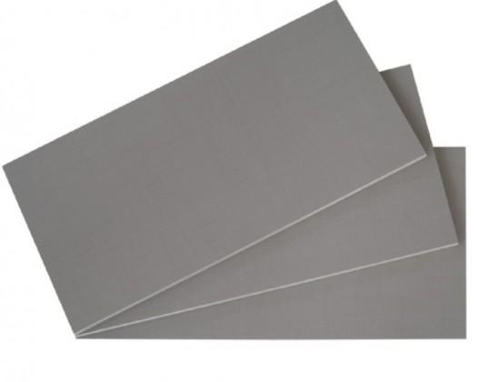 Doplnok Set polic, 3 ks, 87x50 cm (síťovaná šedá)