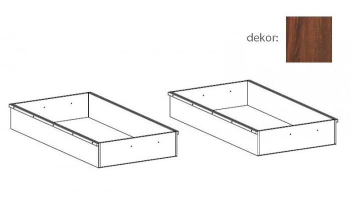 Doplnok Tampere - Úložný priestor - 2 kusy (schoko bardolino)