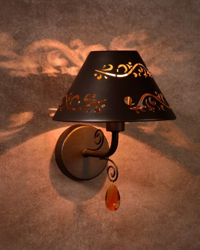 Dorint - nástenné osvetlenie, 40W, E14 (bronzová)