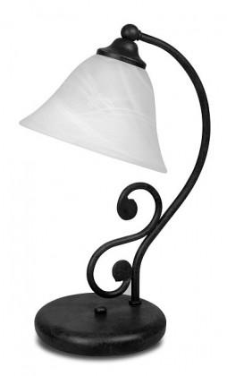 Dorothea - Lampička, E14 (černý kov/biela)