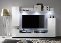 Dos - Obývacia stena (biela mat/biela lesk)