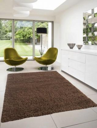 Dream Shaggy - koberec, 110x60cm (100%PP shaggy, hnedá)