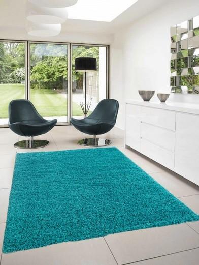 Dream Shaggy - koberec, 150x80cm (100%PP shaggy, tyrkysová)