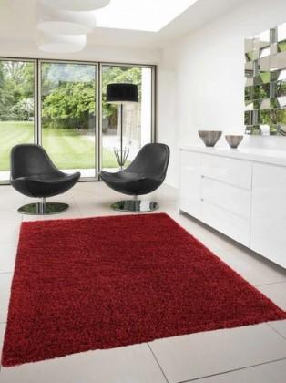 Dream Shaggy - koberec, 290x200cm (100%PP shaggy, červená)