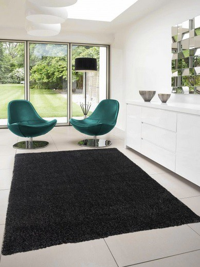 Dream Shaggy - koberec, 290x200cm (100%PP shaggy, čierna)