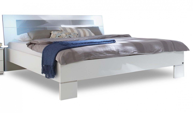 Drevená Advantage - posteľ 140 cm (alpská biela/sivá)
