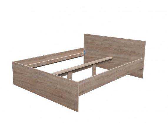 Drevená Drevená posteľ Nikola I - 160x200, bez roštov a matraca