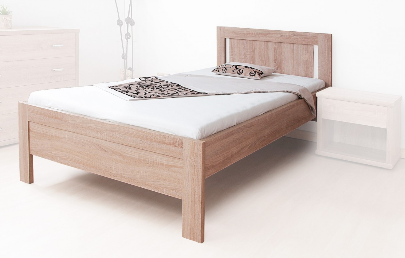 Drevená Lucy - posteľ 200x90 + rošt