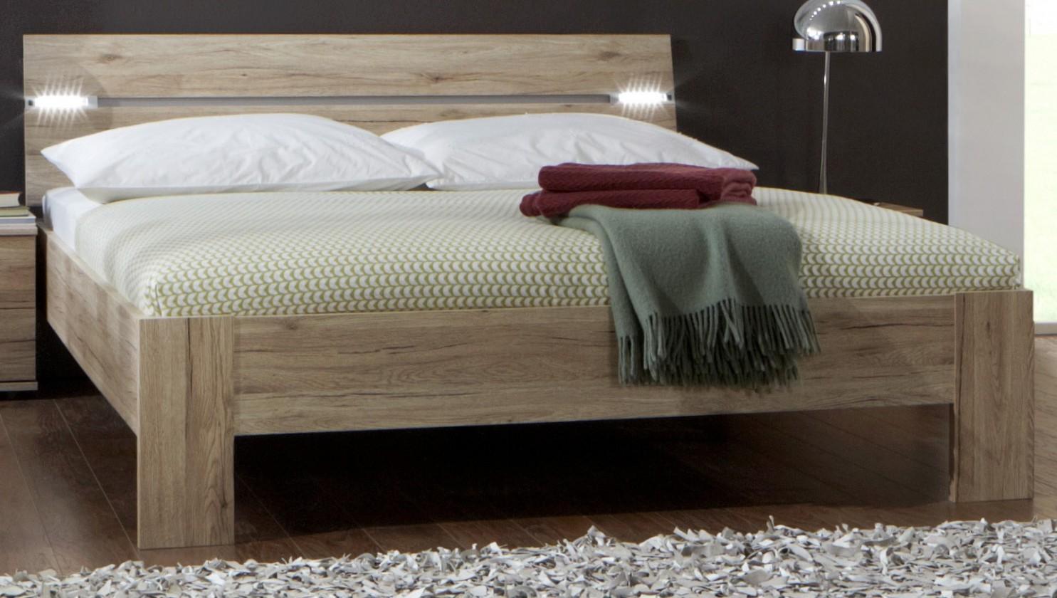 Drevená Madrid - posteľ 160 cm (dub san remo)