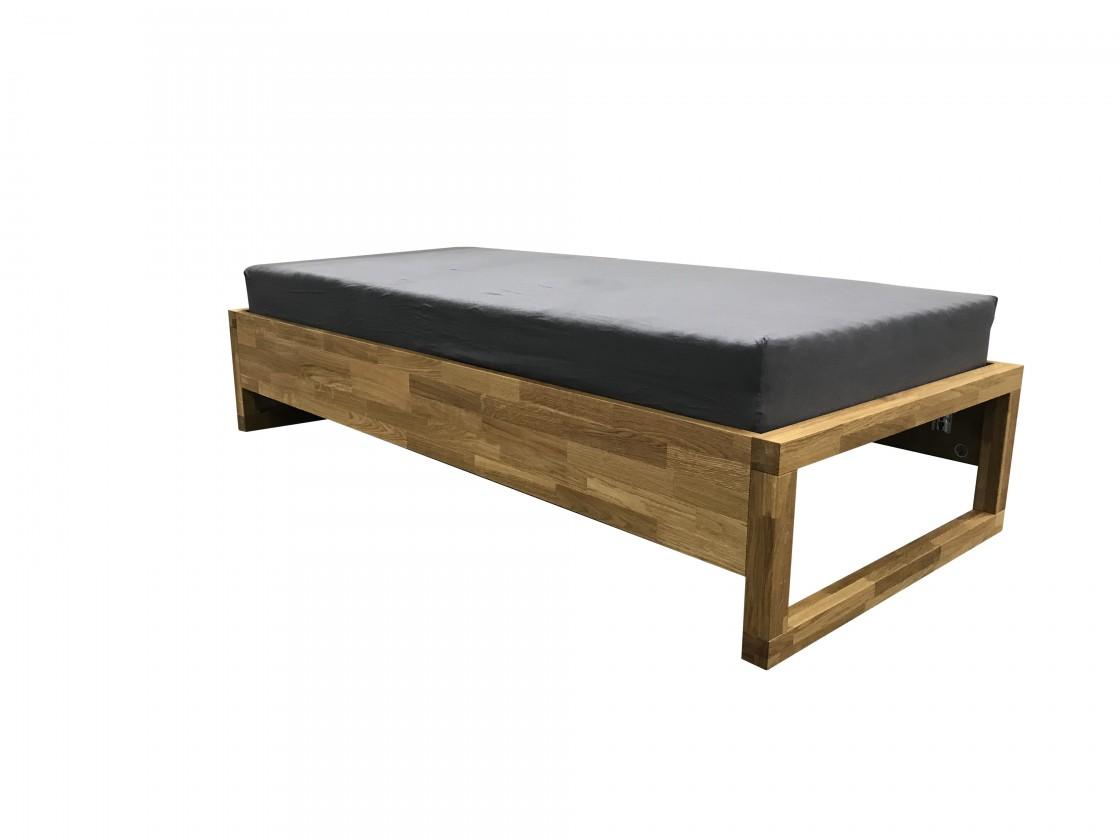 Drevená posteľ Drevená posteľ Oriosa 90x200, dub, vrátane roštu, bez matracov
