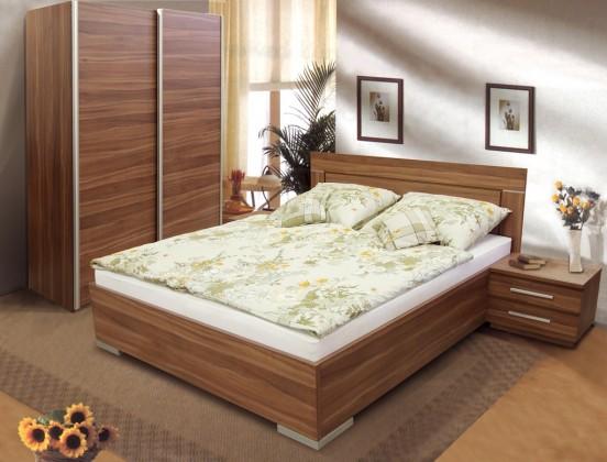 Drevená posteľ Posteľ Dafne 2, 180x200, vrátane výkl. roštu a úp, bez matracov