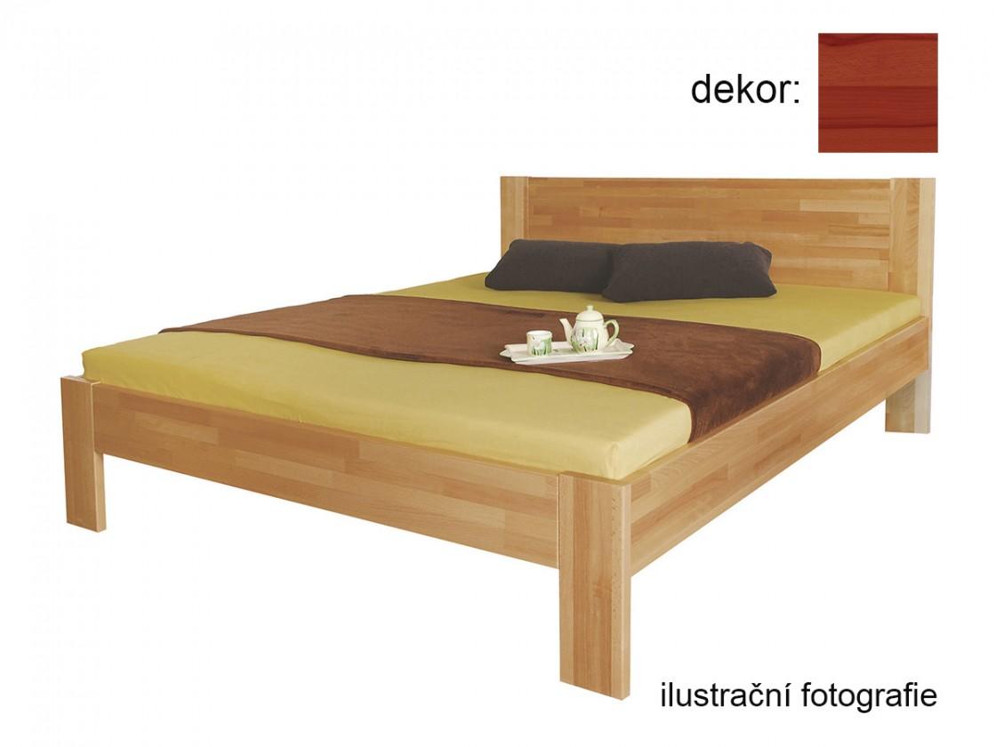 Drevená posteľ Rám postele Gemma 200x220 (masívny buk/lak: farba čerešňa)