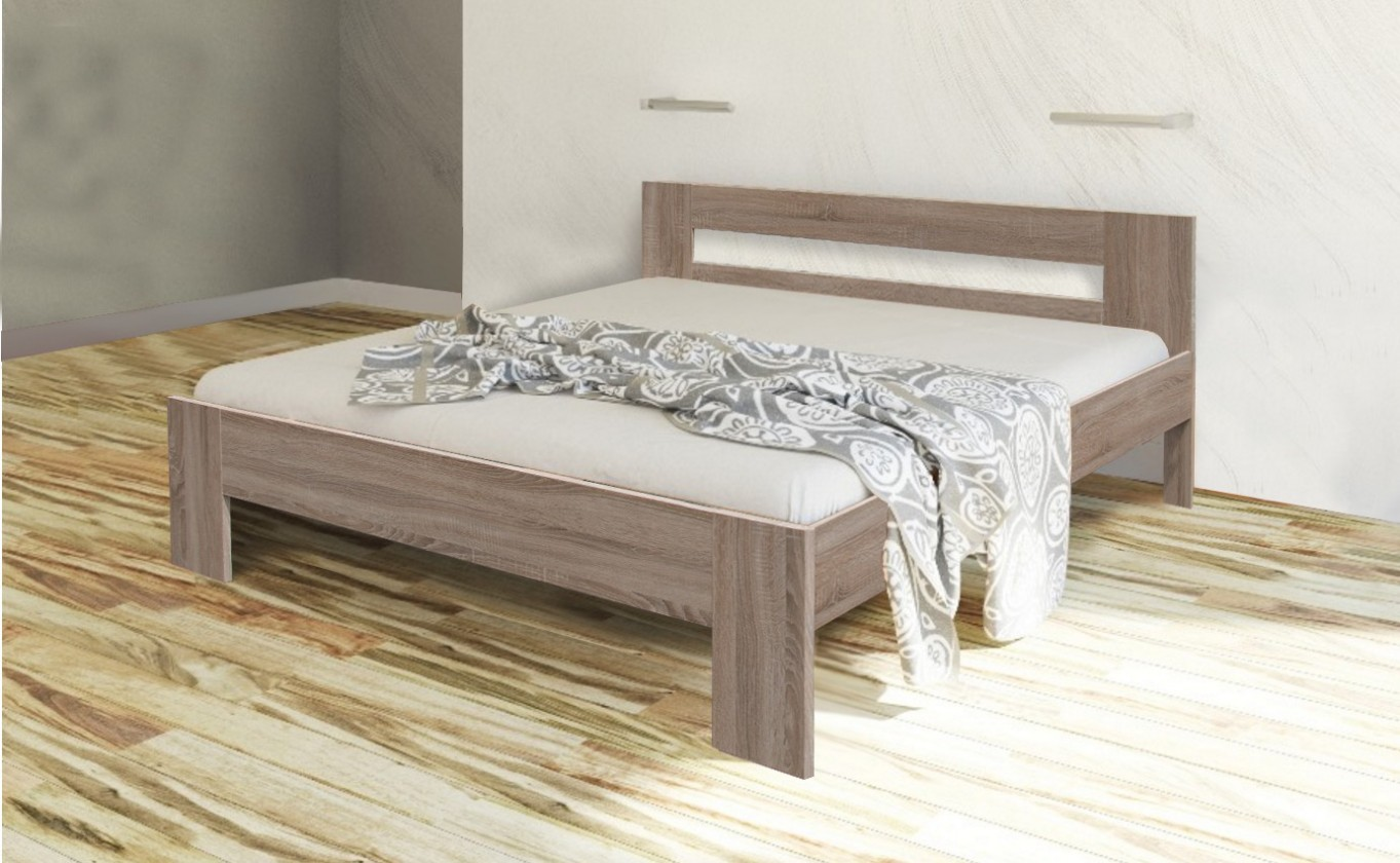 Drevená posteľ Rám postele Nikola II, 160x200, dub