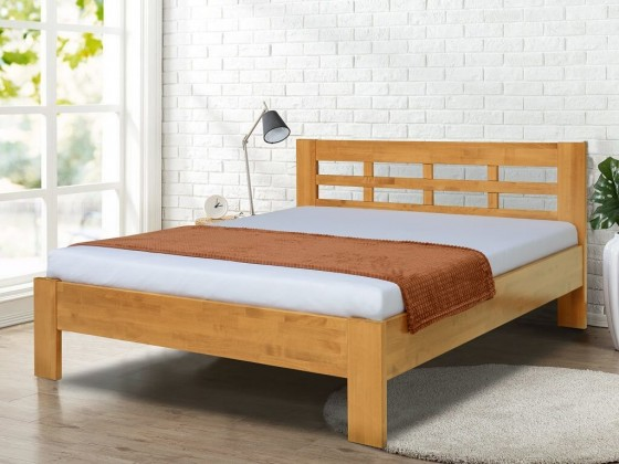 Drevená posteľ Rám postele Vegas 180x200, orech svetlý
