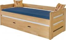 Drevená posteľ Vario, 90x200, vrátane roštu a úp, bez matracov