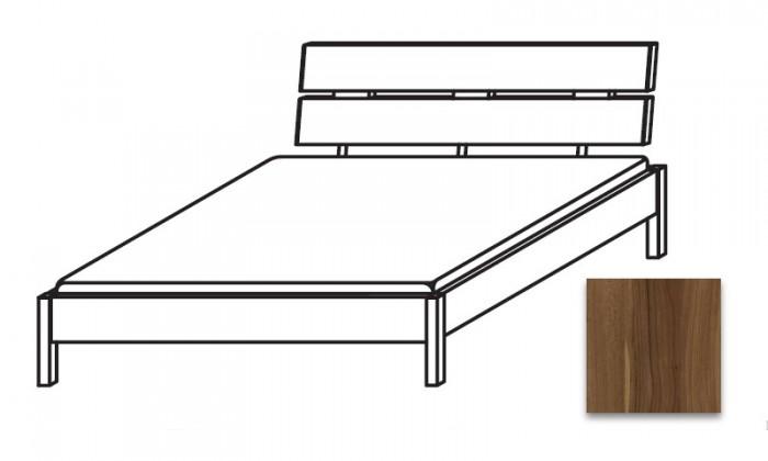 Drevená Quadra - Posteľ 140x200 cm, bez roštu, bez matraca