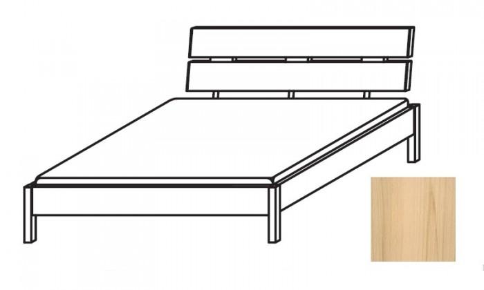 Drevená Quadra - Posteľ 140x210 cm, bez roštu, bez matraca