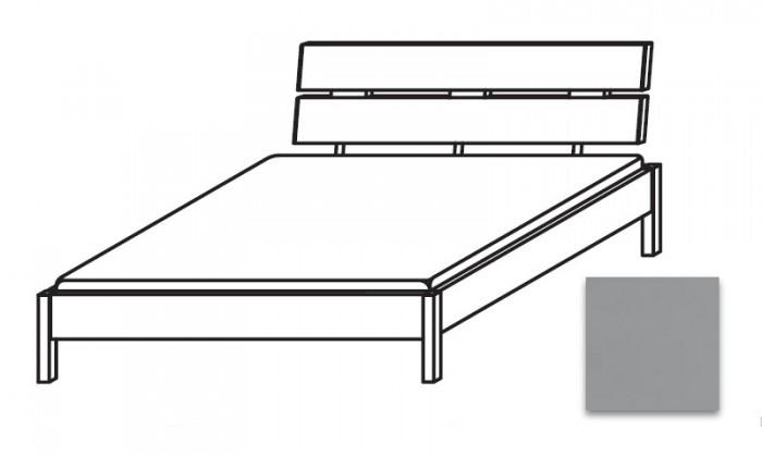 Drevená Quadra - Posteľ 140x220 cm, bez roštu, bez matraca