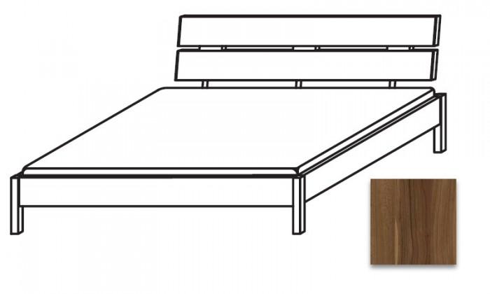Drevená Quadra - Posteľ 160x220 cm, bez roštu, bez matraca