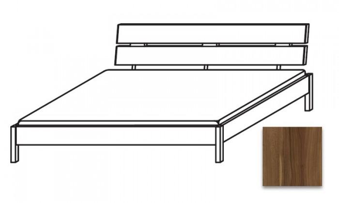 Drevená Quadra - Posteľ 180x210 cm, bez roštu, bez matraca