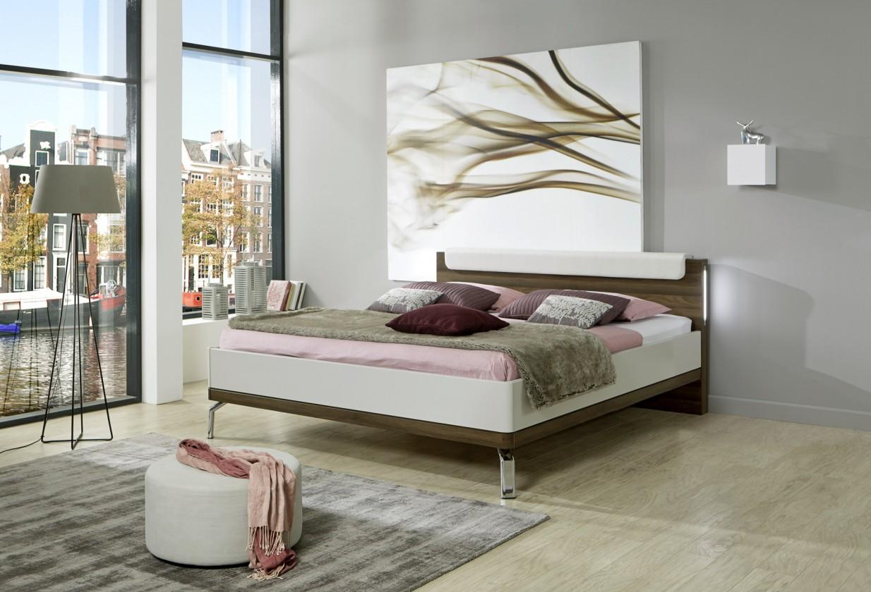 Drevená Rám postele Catania 180x200, champagne, nocce