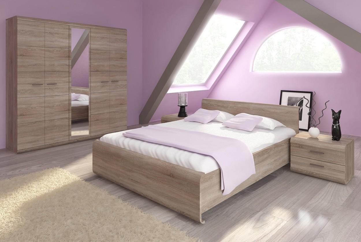 Drevená Rám postele Link 160x200, dub