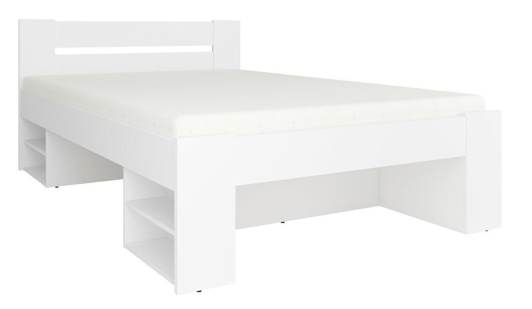 Drevená Rám postele Novara 140x200, biela