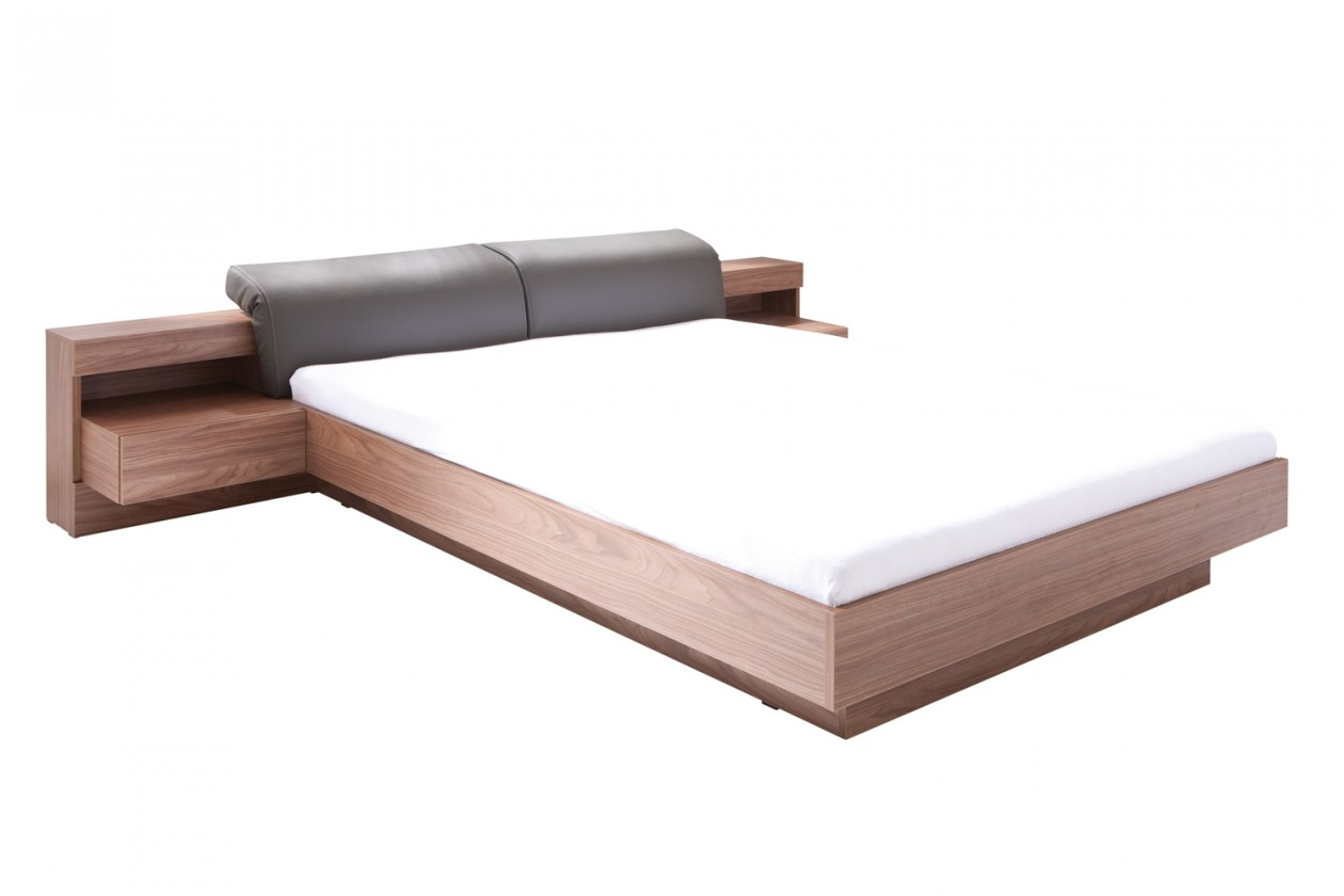 Drevená Rám postele Renato 180x200, 2 noční stolky, bez roštu a matraca
