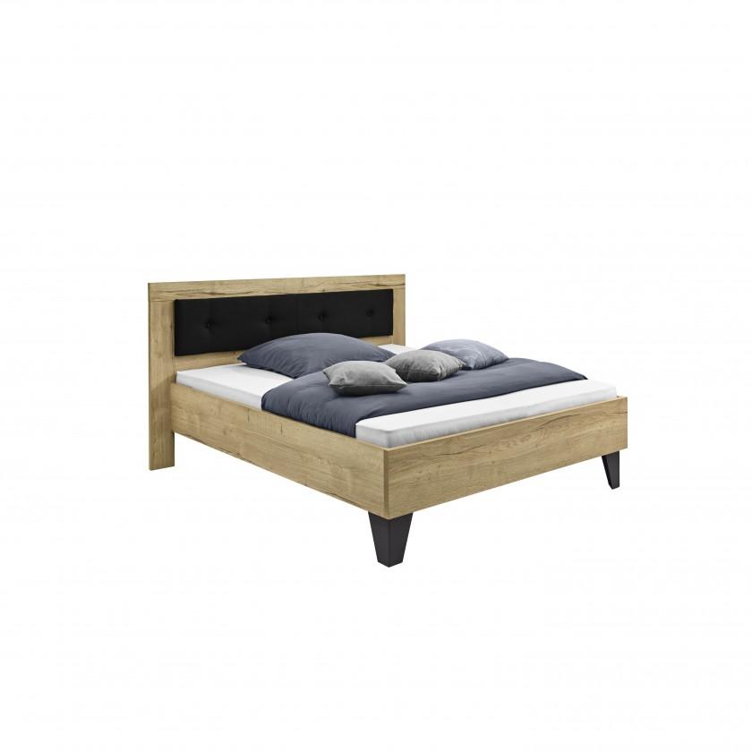 Drevená Tender - 5772280 (divoký dub natur/feelwood/antracit)