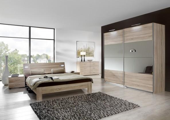 Drevená Vicenza - Komplet veľký, posteľ 160 cm (dub)