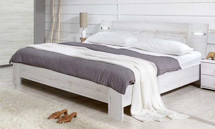 Drevená Vicenza - posteľ 140x200 cm (dub biely)