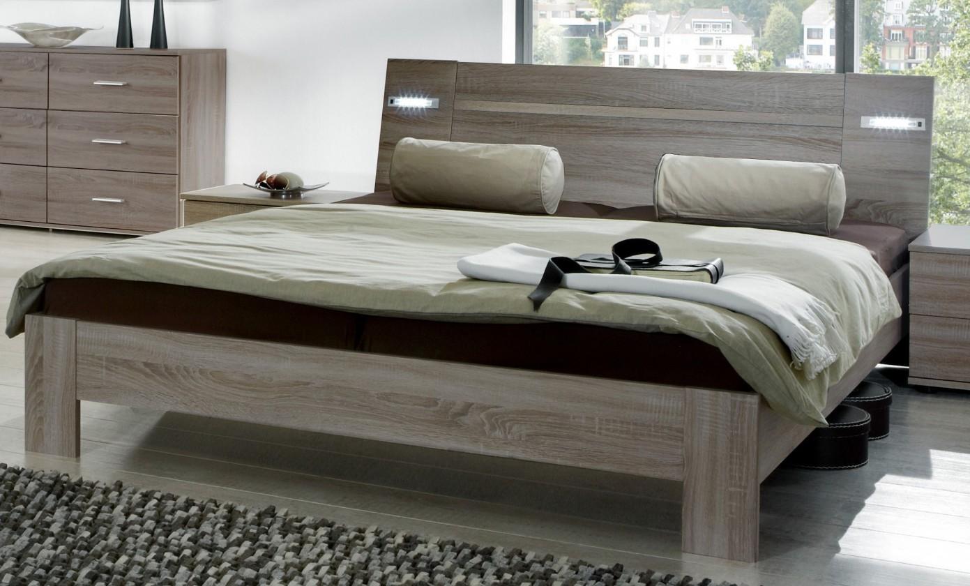 Drevená Vicenza - posteľ 160x200 cm (dub montana)