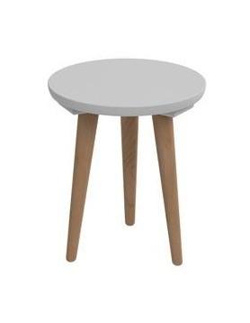 Drevené konferenčné stolíky Konferenčný stolík Bergen - malý (sivá doska/dub nohy)