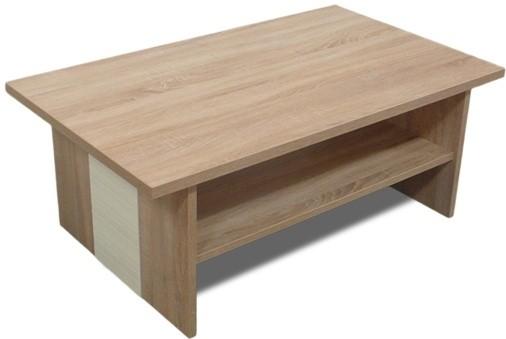 Drevené konferenčné stolíky Konferenčný stolík Bori (Dub bardolino/Vanilka)