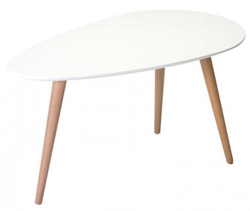 Drevené konferenčné stolíky Konferenčný stolík Gert (biela)