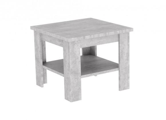 Drevené konferenčné stolíky Konferenčný stolík Gete - štvorec (beton jasný)