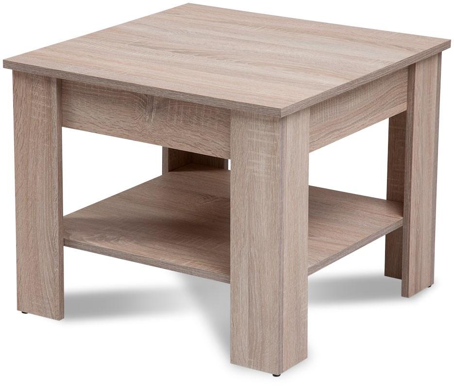 Drevené konferenčné stolíky Konferenčný stolík Gete - štvorec (dub sonoma)