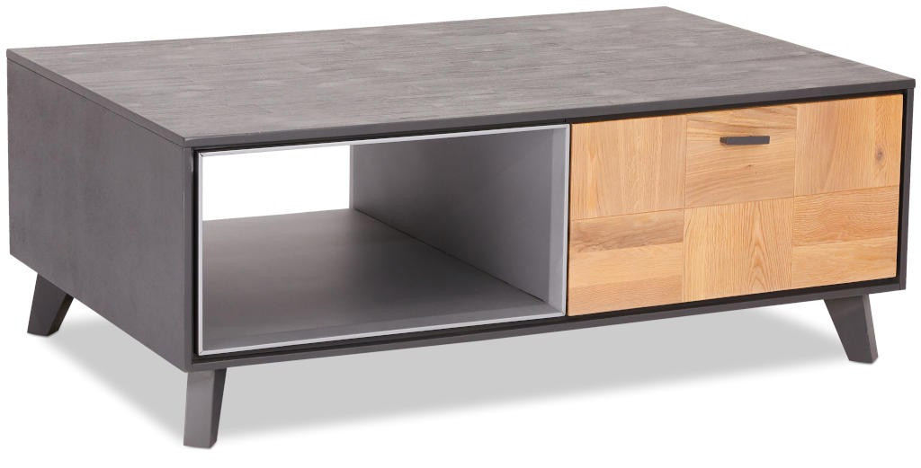 Drevené konferenčné stolíky Konferenčný stolík Hakon - 120x45x75 cm (hnedá, sivá)