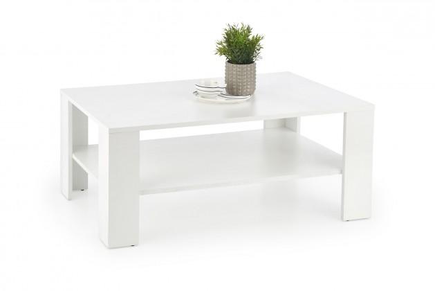 Drevené konferenčné stolíky Konferenčný stolík Kwadro (biela)