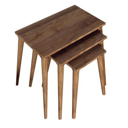 Drevené konferenčné stolíky Konferenčný stolík Marko - set 3 kusov (orech)