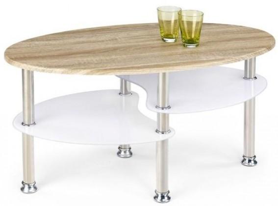 Drevené konferenčné stolíky Konferenčný stolík Medea (dub sonoma / extra biela)