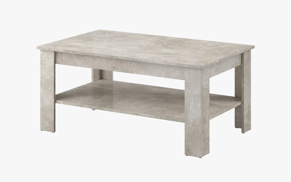 Drevené konferenčné stolíky Konferenčný stolík Nive - obdĺžnik (beton jasný)