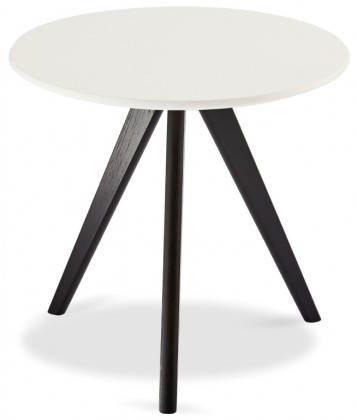 Drevené konferenčné stolíky Konferenčný stolík Porir - 48x45x48 cm (biela, čierna)