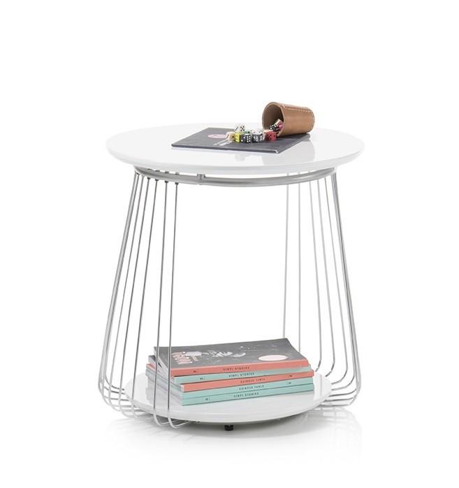 Drevené konferenčné stolíky Konferenčný stolík Selvan - 50x51x50 (biela)