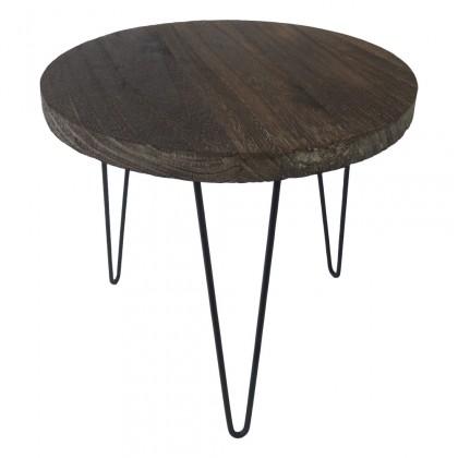 Drevené konferenčné stolíky Konferenčný stolík Shape 34x31x34 (tmavé drevo)