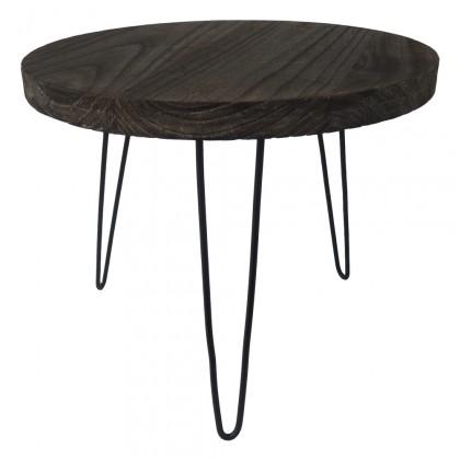 Drevené konferenčné stolíky Konferenčný stolík Shape 50x42x50 (tmavé drevo)