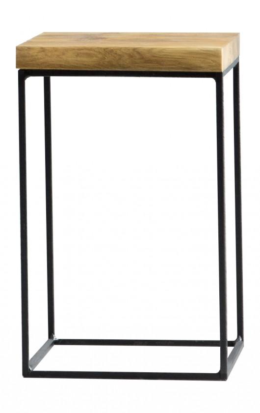 Drevené konferenčné stolíky Loft - Konferečný stolík, 30x60x30 cm