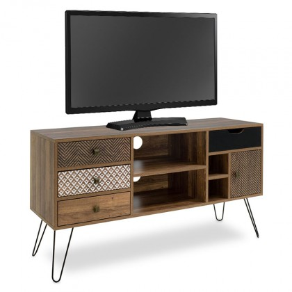 Drevené TV stolíky TV stolík Jonsi (orech, hnedá)